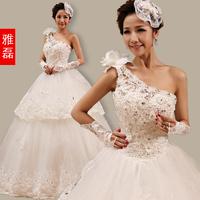2013 one shoulder bride wedding dress formal dress the wedding maternity wedding dress plus size wedding dress bandage