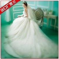 Royal princess fashion flower tube top big train wedding dress bride new arrival 2013 laciness wedding