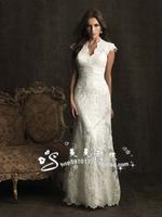 Wedding dress 2013 V-neck lace train fashion wedding dress suzhou wedding dress