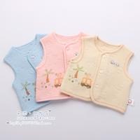 Baby cotton thermal jacquard vest newborn spring and autumn vest 0 - 12 9486