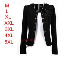 2013 Black/Red/Pink/White/Yellow tops L,XXL,3XL,4XL,5XL Fashion slim flower plus size women coats clothing woman blazer jacket