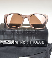 New Color Woodgrain Brown OK GARAGE ROCK Polarized Brown Lens Man's Woman's sunglasses Brand O Logo Driving Glasses