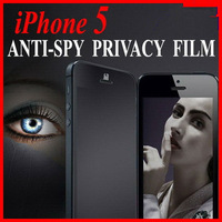 5pcs/lot Anti Spy PRIVACY SCREEN PROTECTOR COVER SKIN FOR iPhone 5 with retail package Free Shipping