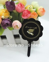 Free shipping  black Graduation ceremony cake topper