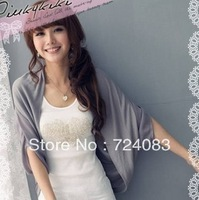 3115 2013 summer batwing sleeve chiffon patchwork coat cape free shipping