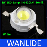 White High Power LED Beads 1W LED Lamp 110-120LM 40mil 100pcs/lot free shipping