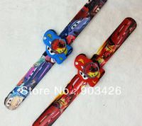 Free shipping by DHL! 100pcs/lot! Hot Sale Cars Slap Watch Cartoon Children Wristwatch Slicone Snap Watch G2849 Wholesale