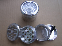 4 Layer Windows HERB GRINDER Spice hand Muller Grinder G108-Sliver