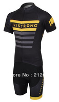 Brand New 2013 Tour de France Livestrong team Short Sleeve Cycling Clothing Jersey & (Bib) Shorts Sets. Free shipping!