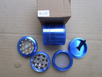 4 Layer Windows HERB GRINDER Spice hand Muller Grinder G108-blue