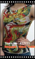 Women Fake Tattoo T-shirt tattoo clothing free shipping for Retail &wholesale