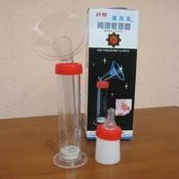 Manual type dual syringe pump nipple breast pump