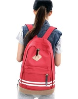 2013 New Girl Canvas Swerve Backpack Striped School Bag Travelling Bag Retail and Wholesale Free Shipping Dropship Supported