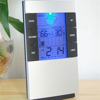 High precision large screen electronic hygrometer household thermometer hygrometer luminous alarm clock