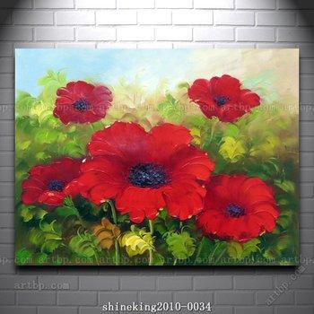 Beautiful Flower Oil Painting Modern Art Canvas Painting artist canvas modern wall painting deco art modern wall paint