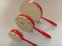 Orff baby drum wave percusses reminisced double faced darnings wooden rattle sheepskin wool