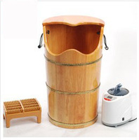 Oak suffumigation bucket steaming foot bucket steam bucket feet bucket barrel beightening 70cm