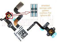 Free shipping Original New Repair parts For iphone 4s Proximity Sensor Connector Foam Pad 100pcs