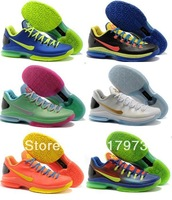 27 color Famous Player Kevin Durant KD V 5 low Men's Sports Basketball Shoes ,Player Kevin Durant KD V 6 low Men's Shoes