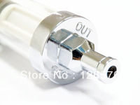 "Free Shipping Chrome Glass 5/16"" Fuel Filter for Honda Yamaha Suzuki Kawasaki KTM ATV Dirt Bike Motorcycle Cruiser"