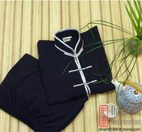 kung fu uniform - - - tencel hemp black gray Light tai chi  martial arts  chinese style clothes