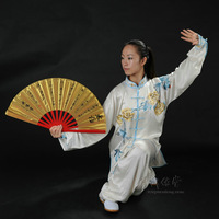 Tai Chi Kungfu/Kongfu/Martial Arts Fan Tai chi fan kung fu fan fitness fan thick bamboo fan bags
