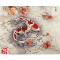 art/calligraphy/crafts/cros stitch/ painting Digital oil painting diy digital painting lovers flower - 40 50