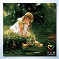 Digital oil painting colored drawing digital painting digital oil painting diy hand painting 60