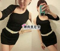 Summer women's 1095 sexy one-piece dress slim hip tight fitting mushroom basic skirt