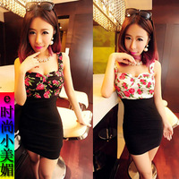 2013 women's slim suspender skirt tube top tight slim hip sexy one-piece dress