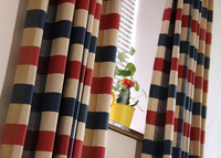 Plaid curtain american rustic 2 k