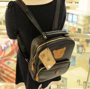 Fashion  women's handbag bear  preppy style school bag  free shipping