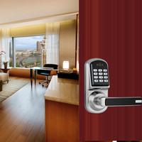 Free Shipping digital door locks code lock with card and mechanical keys supply high quality life