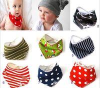 wholesale hot sale 50pcs/lot Christmas infant Double triangular bandage saliva towel bib Baby bib Burp Cloths