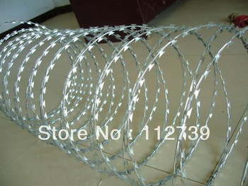 CBT-65 Single Coil Razor Blade, Razor Wire, Outside Wire Diameter 500mm