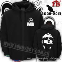 Music star Chester Bennington LINKIN PARK Loose thick cardigan sweater zipper Linkin Park Linkin Park Chester brushed hoodies