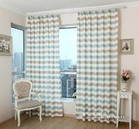 Green fabric rustic balcony curtain customize