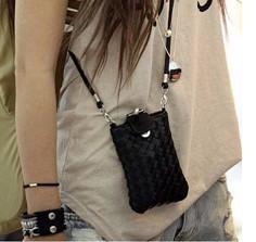 Korea style new design women's messenger bag mini bag,Cell Phone Case Mobile Bag i phone 4 & 4S Pouch Woven bag #161