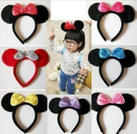 New arrival fashion Minnie Mouse Ears Candy Colors Novelty Party Hairbands Girls Headwear,Children Apparel AccessoriesG1002