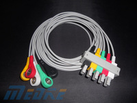 M1635A compatible ECG leadwire,5 lead,IEC,snap,G522AA