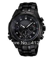 Military Army Alloy Chronograph Tachymeter Watch Men Quartz Wristwatch Stopwatch EF-535BK-1AV EF-535 EF-535BK  P63