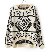 East Knitting SW-013 long sleeve oversized sweaters for women 2013 Aztec pattern pullovers and kintwear coats for woman top sale(China (Mainland))