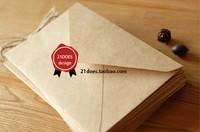 Free shipping 21does vintage cowhide paper envelope storage  decoration envelope 16 times . 11cm b design