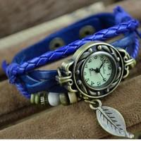 Free shipping 2013 new items wholesale vintage  bracelets for women fashion belt automatic watch ladies quartz watch