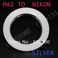 100% GUARANTEE silver  M42 M 42 Lens to Nikon AI Adapter D80 D90 D200 D300 D700 D3X D3000 D5000 D70 N