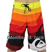 Mens Leisure Red Scrawl Board Shorts Beach Surf Swim Wear Swimming Pants Swimsuits
