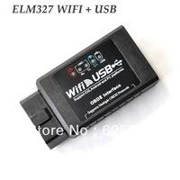 Newest Auto Diagnostic Adaptor Elm 327 Wifi USB OBD2 ELM327 WIFI327 WIFI 327 usb Scanner For iPhone,iPad,iPod