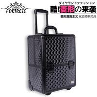 Specialized fortress black rod cosmetic box tools storage box Large nail art box
