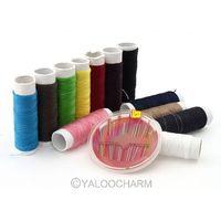 Free Shipping Portable Home 1 set Sewing Kit Thread Spool Needle Fix Repair Travel DIY Tools 81896
