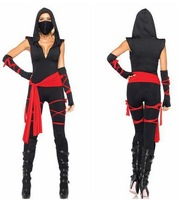 Free Shipping hot sale  black anti epidemic women sexy  Caribbean  pirate cosplay  halloween warrior  dress costumes for woman